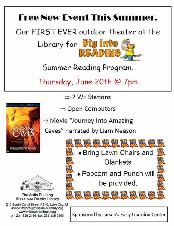 Outdoor movie flyer